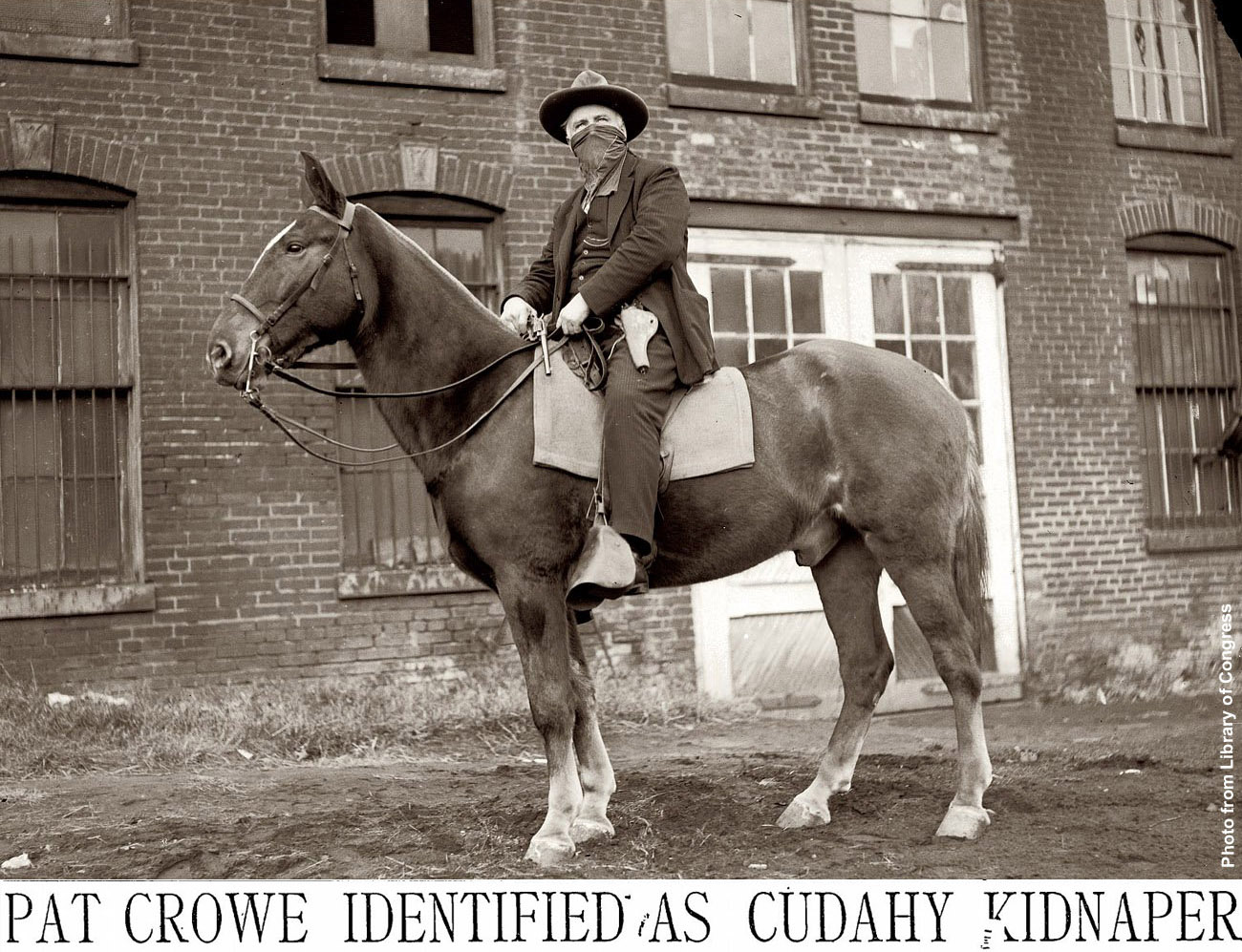 Photo of the Outlaw Butcher Pat Crowe that the bacon is named after.