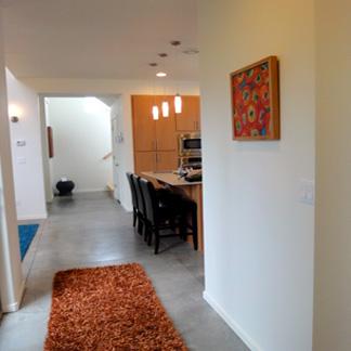 Hallway with Pop of Orange
