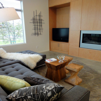 Living Room with Custom Casework