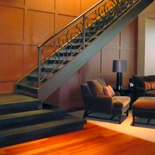 Staircase with Custom Railing