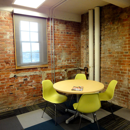 Washington Trust Bank | Priority Service Department in the Holley Mason Building | Casual Meeting Area