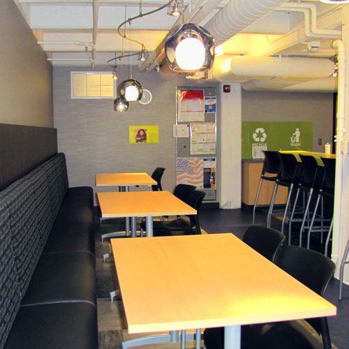 Washington Trust Bank | Priority Service Department in the Holley Mason Building | Cafe Like Break Room