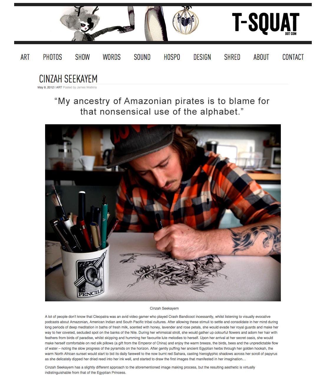 T-Squat - Arts & Culture Magazine -   VIEW HERE