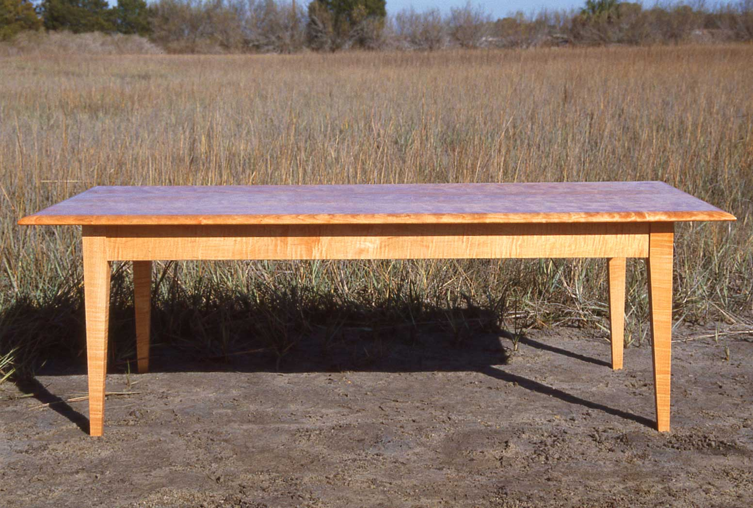 Figured Cherry & Maple Coffee Table