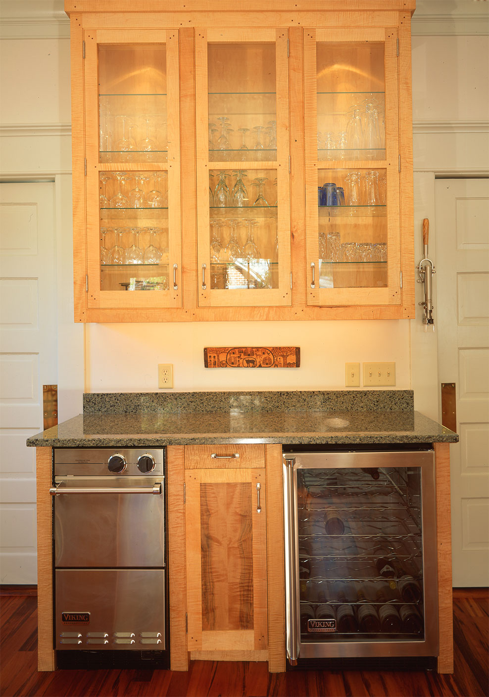 Figured Maple Cabinets