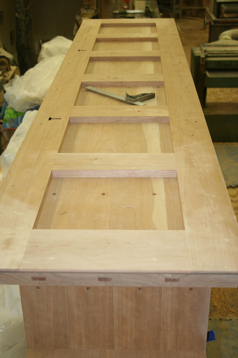 Sub top mortise and frame