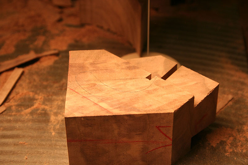 After the dovetail is cut