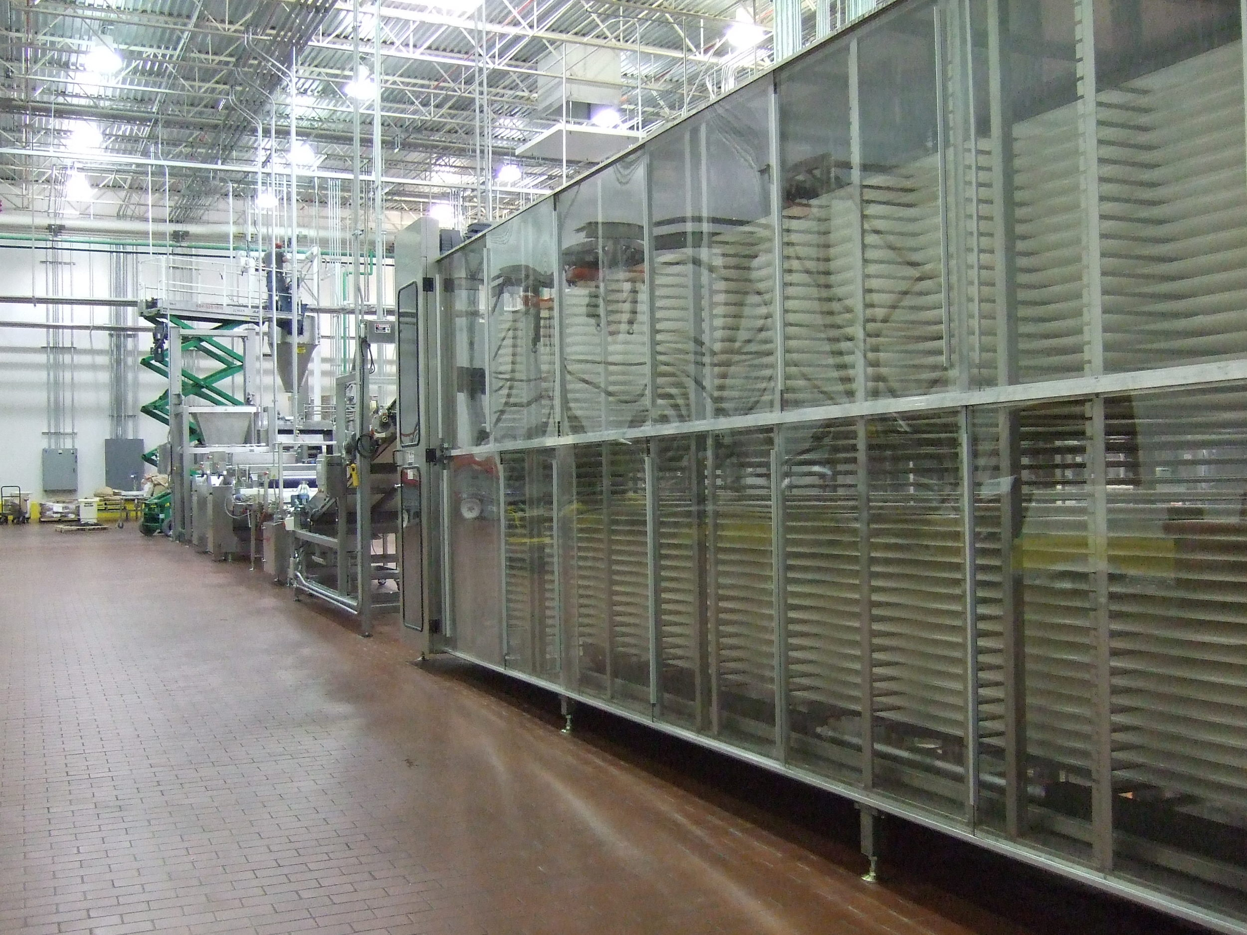 A large, fully-automated Proofing array which can be used for proofing of various bread products.