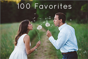 100 of my favorite assorted engagement photos.
