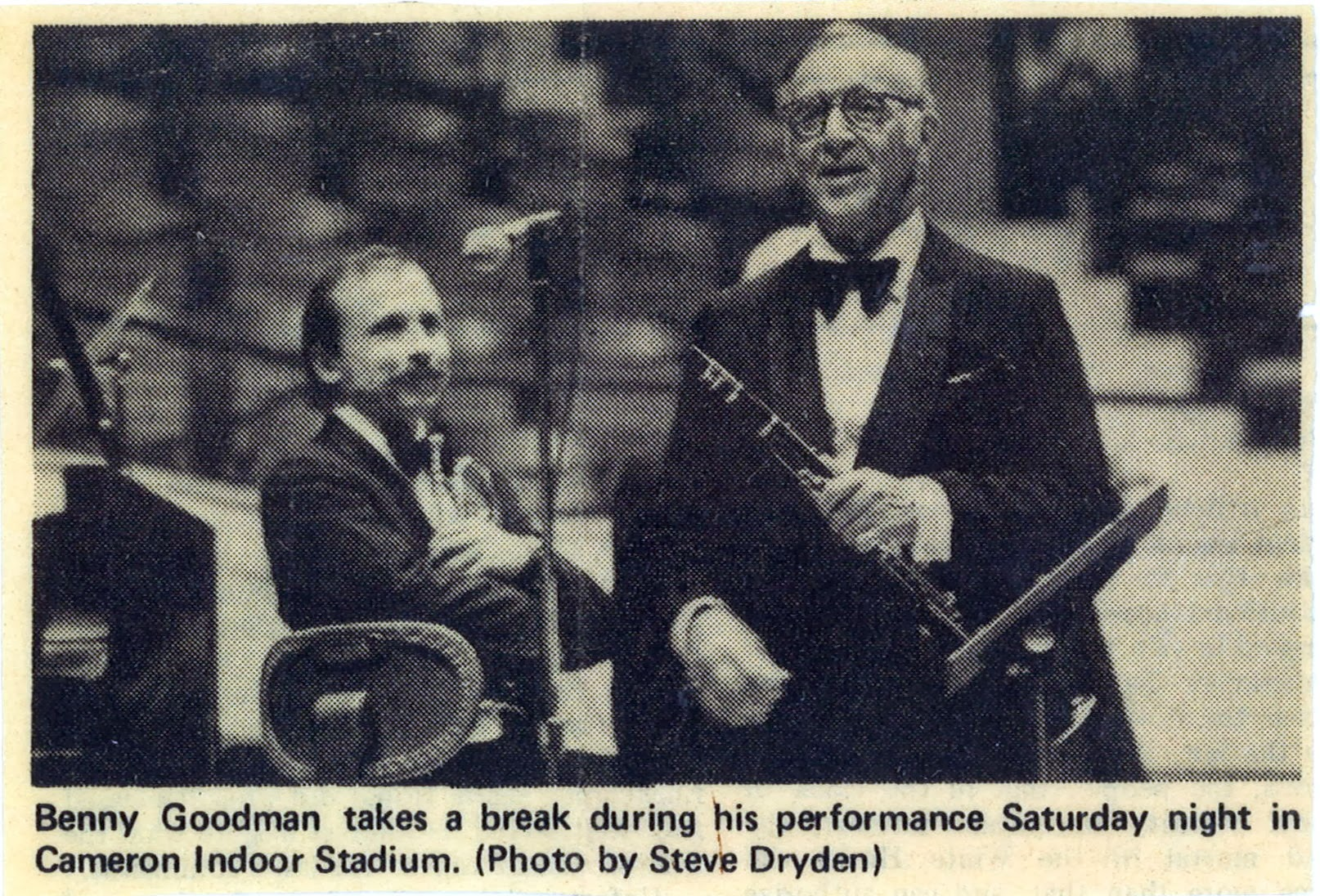 Ed with Benny Goodman's band