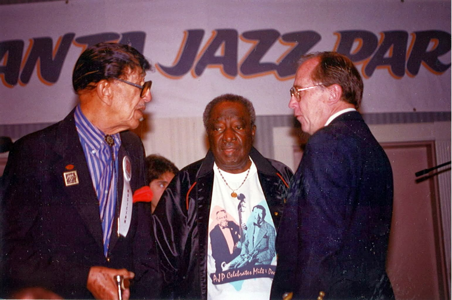 With Doc Cheatham and Milt Hinton