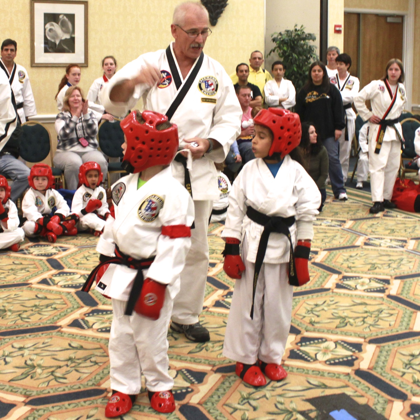 Students in martial arts develop self-esteem, respect and are more confident.