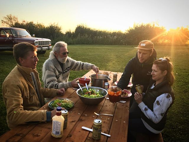 Friends. Family. Food straight from the garden. A moment in heaven.