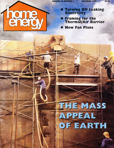 Second generation rammed earth in which high pressure air and big hoses impact a soil cement blend against a single sided form, dubbed PISE for Pneumatically Impacted Stabilized Earth.