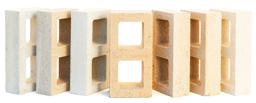 Watershed Materials produces low cement, sustainable green masonry building products. The blocks in the image above are Watershed Blocks, made with half the cement of an ordinary concrete block. The research funded by the National Science Foundation will lead to durable masonry blocks called ZeroBlock that use zero cement.