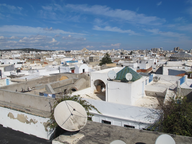 Rooftops at the Medina of Tunis