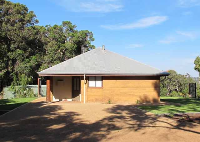 Rammed earth stabilized with 8-10% Portland cement is now a commonplace residential  construction material in Western Australia