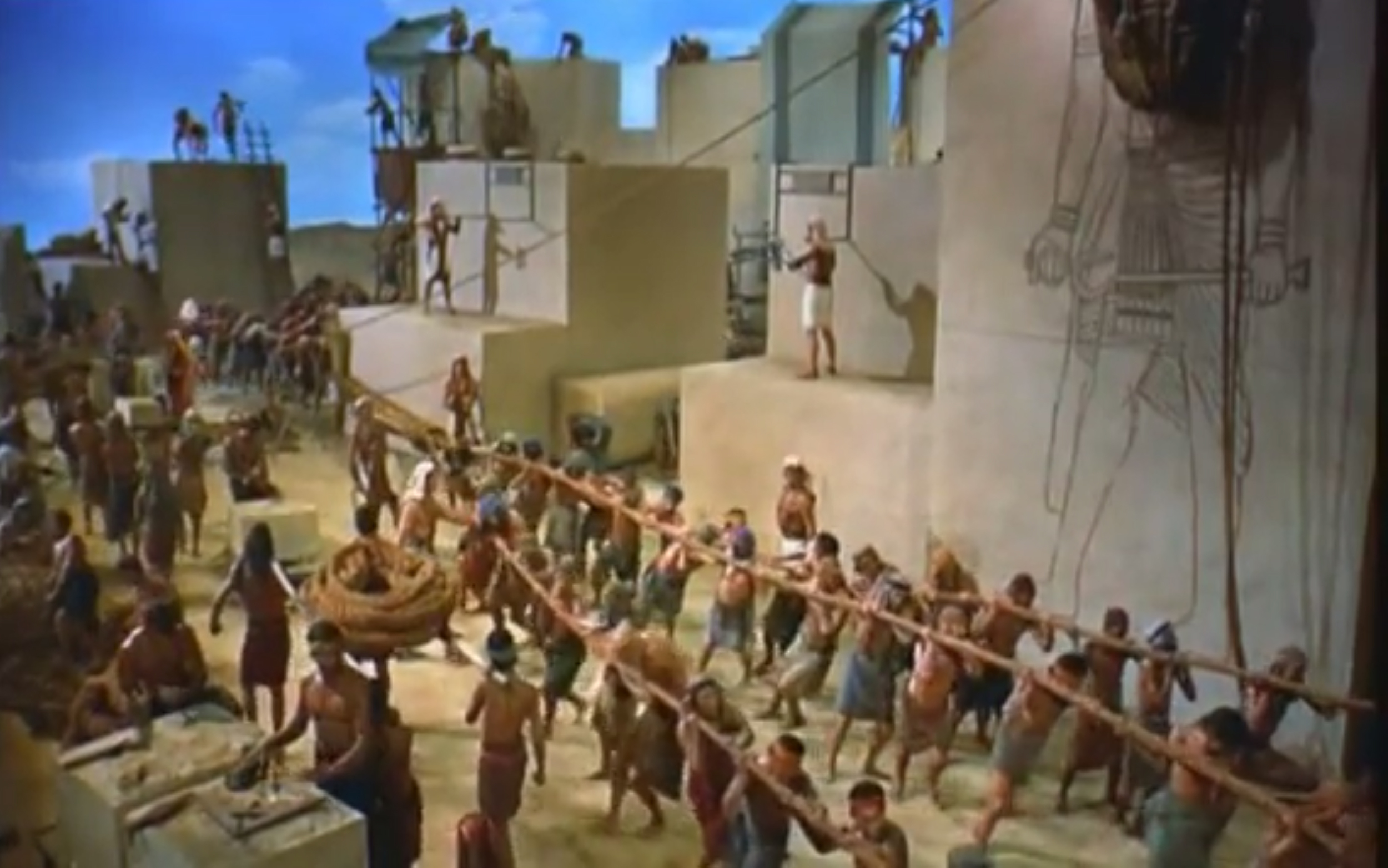 Cecile B. DeMille's 1956 film The Ten Commandments, while not specifically about the construction of the Great Pyramids, has contributed to the common image in many of our minds explaining the construction of the pyramids. In the 1980s, a French materials scientist named Joseph Davidovits proposed a very different scenario.