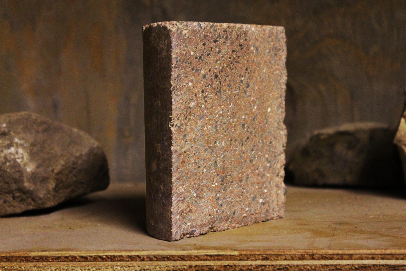 유역 재료로 만든 새로운 지오 폴리머 벽돌로 천연 점토를 내구성있는 건축 제품으로 전환-유역 재료-새로운 콘크리트 블록을위한 기술