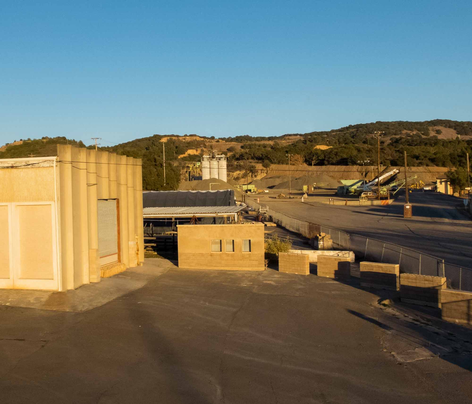 Watershed Materials factory in Napa, California Adjacent to a Quarry that Provides Recycled Aggregate for the Production of Reduced Cement Sustainable Masonry