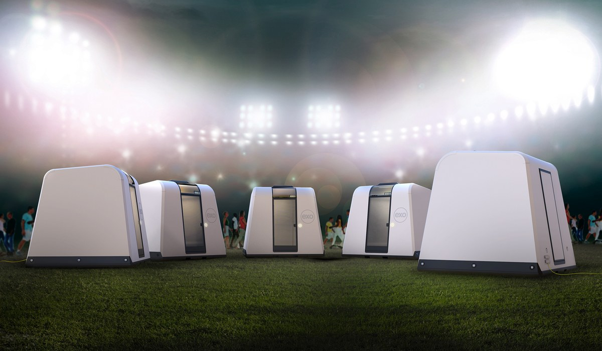 Exo Shelters, created by Austin, Texas based Reaction Housing, were created by Michael McDaniel as temporary shelters for victims of natural disasters.