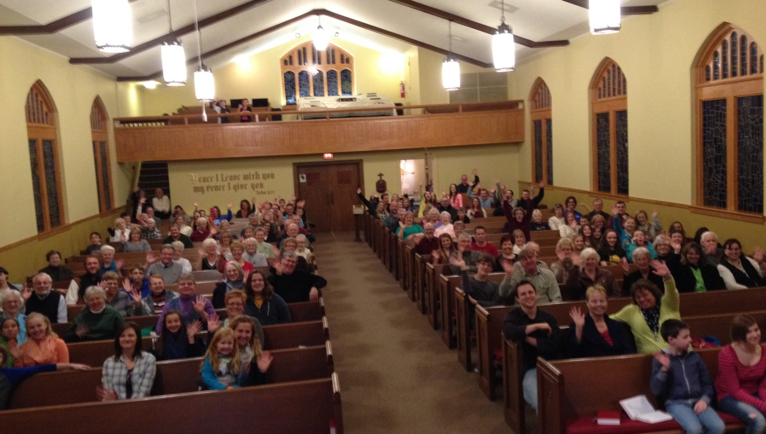 Check out this awesome crowd in Southern Illinois!