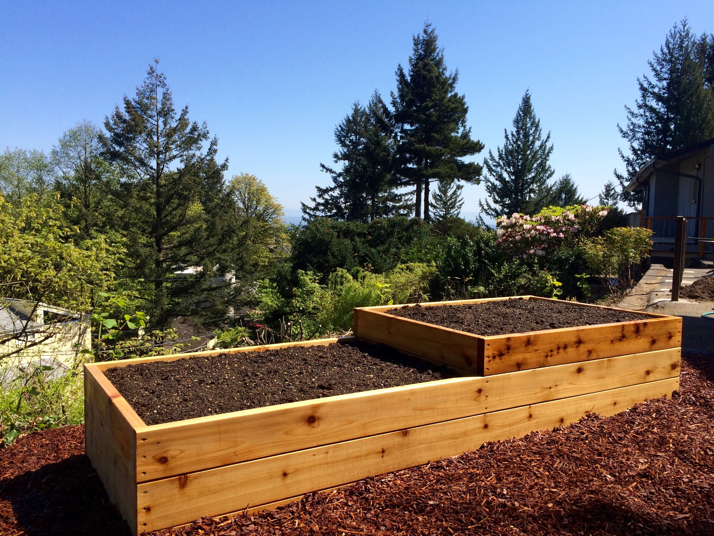 Terraced Raised Garden Bed