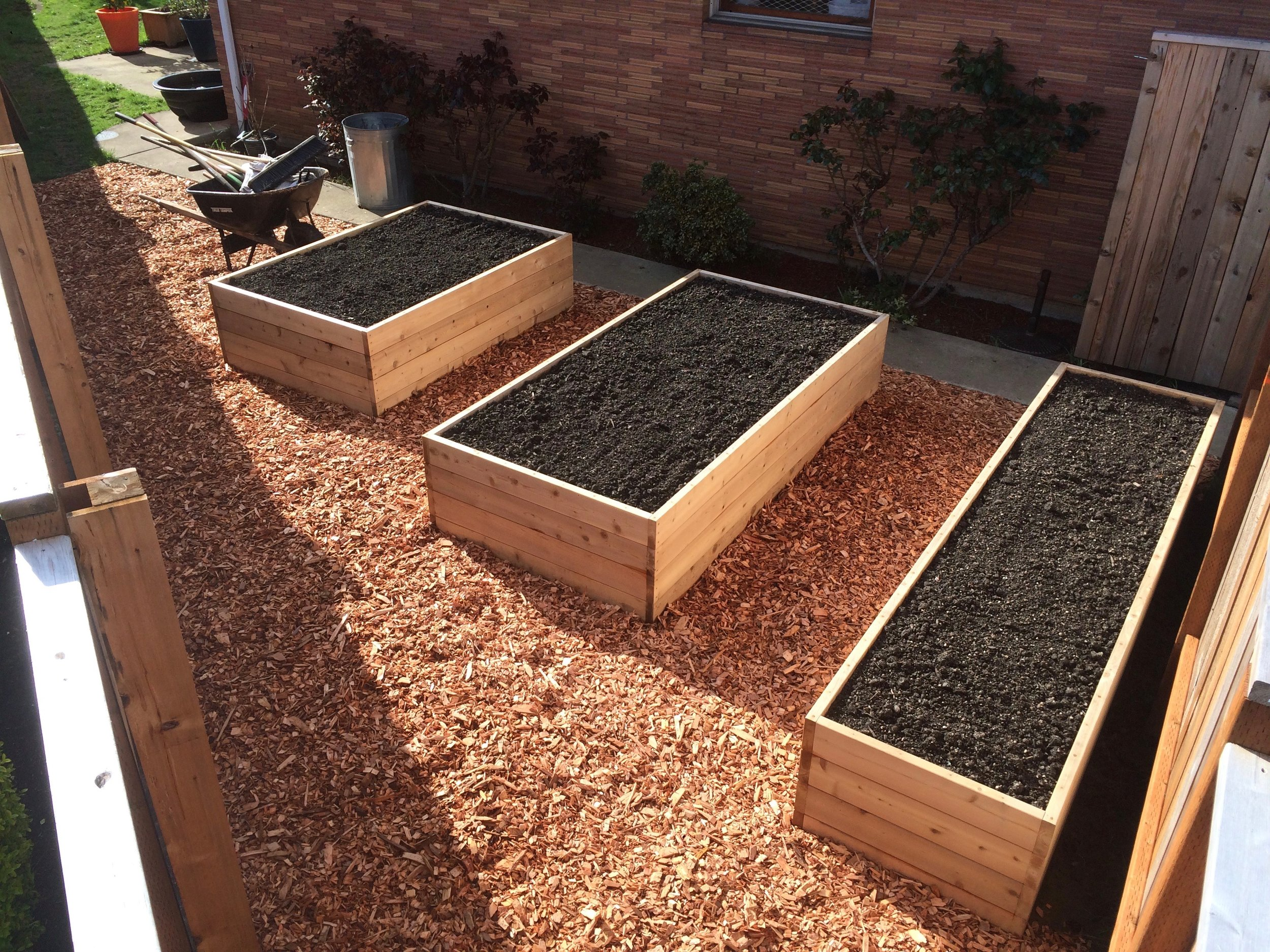 Corner Raised Beds (finished)