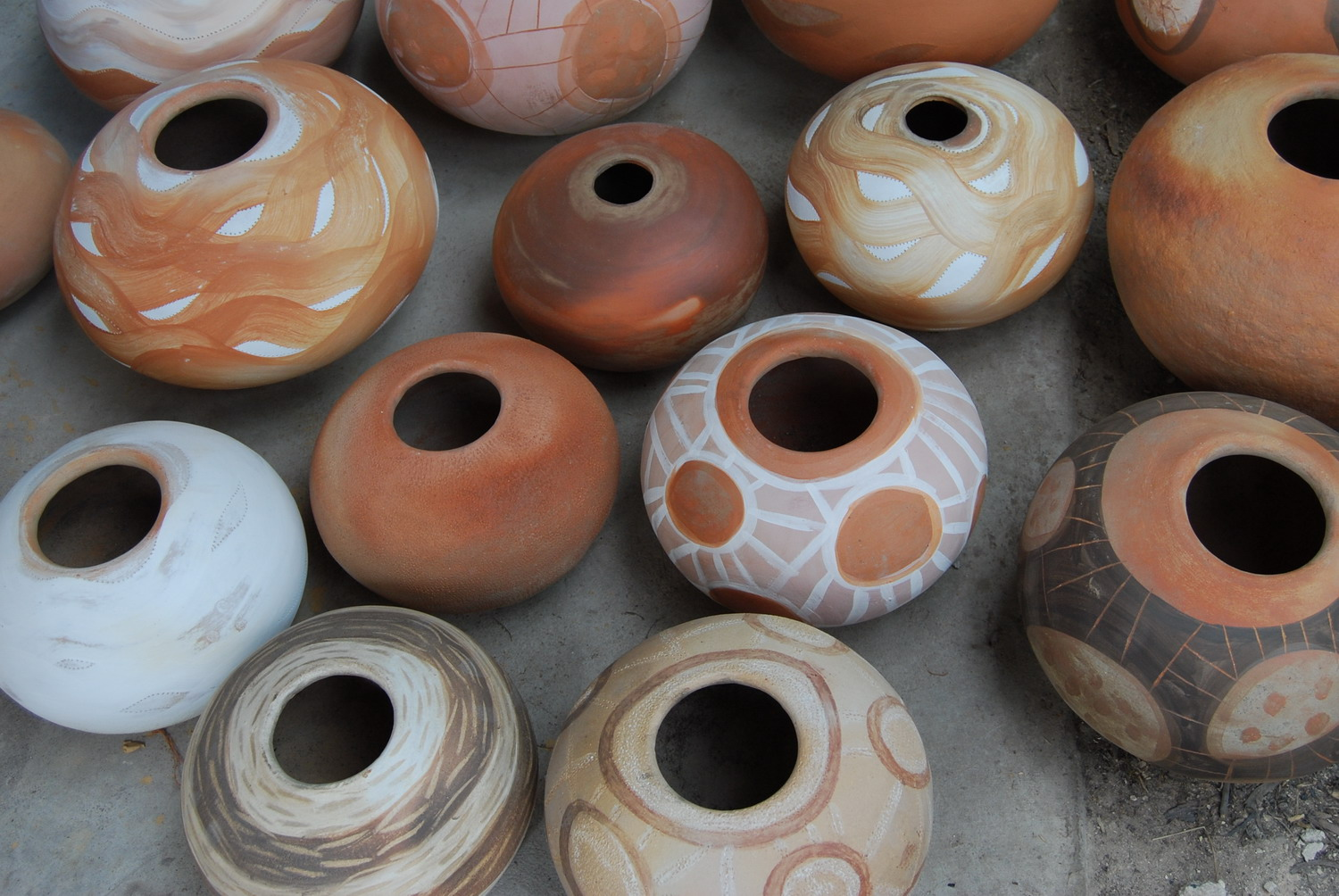 Elements just out of the kiln.