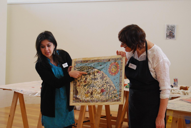 Minhazz Majumdar and Ann Ferguson telling Pradyumna's story, How the Firefly got its Light