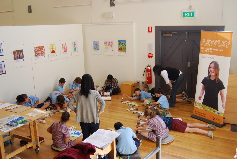 Scroll painting workshop