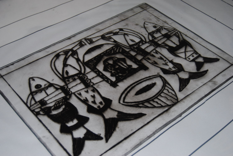 Mantu Chitrakar's etching