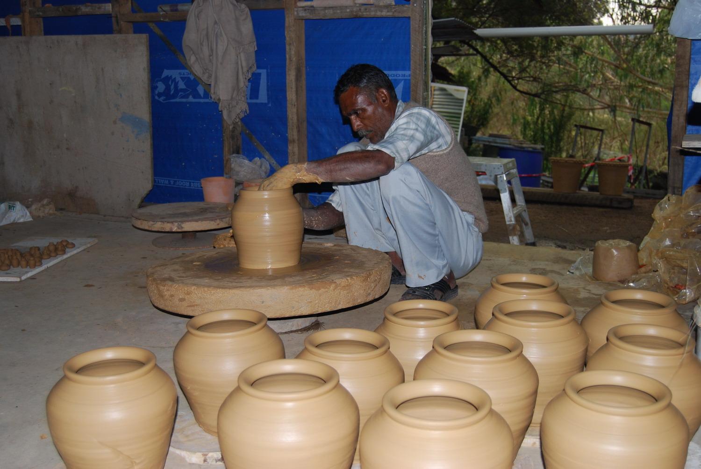 Manohar Lal making matka