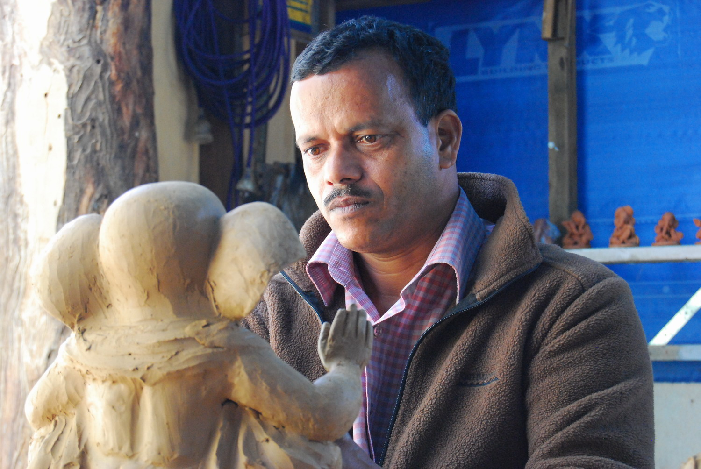Arun_working_on_Ganesh.jpg