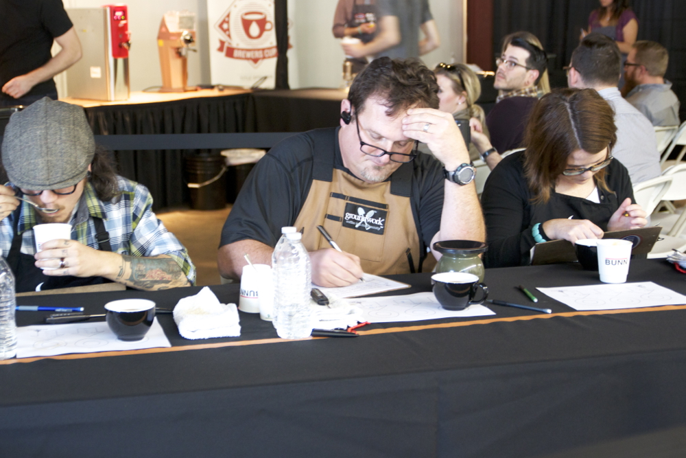 Brewers Cup Judges in deliberation