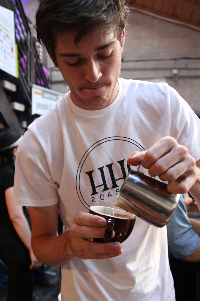 Hidden House Coffee Roasters  pouring art