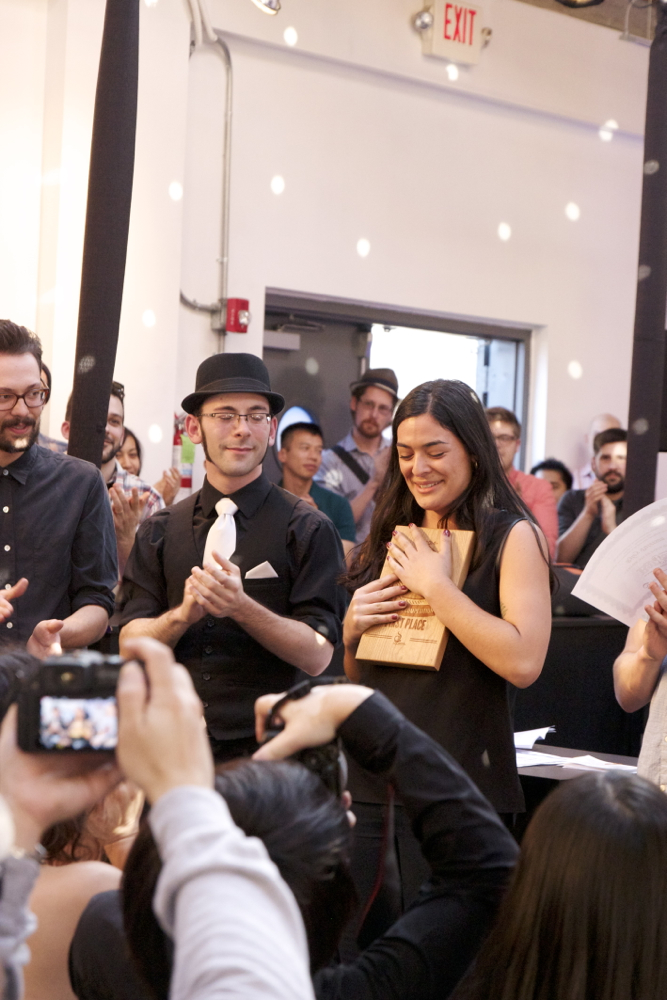 Laila of  Cherry Street Coffee , Seattle wins the North West Regional Barista Championship