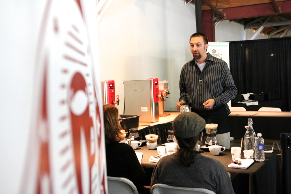 Todd Goldsworthy Competing at the SW Regional Brewers Cup