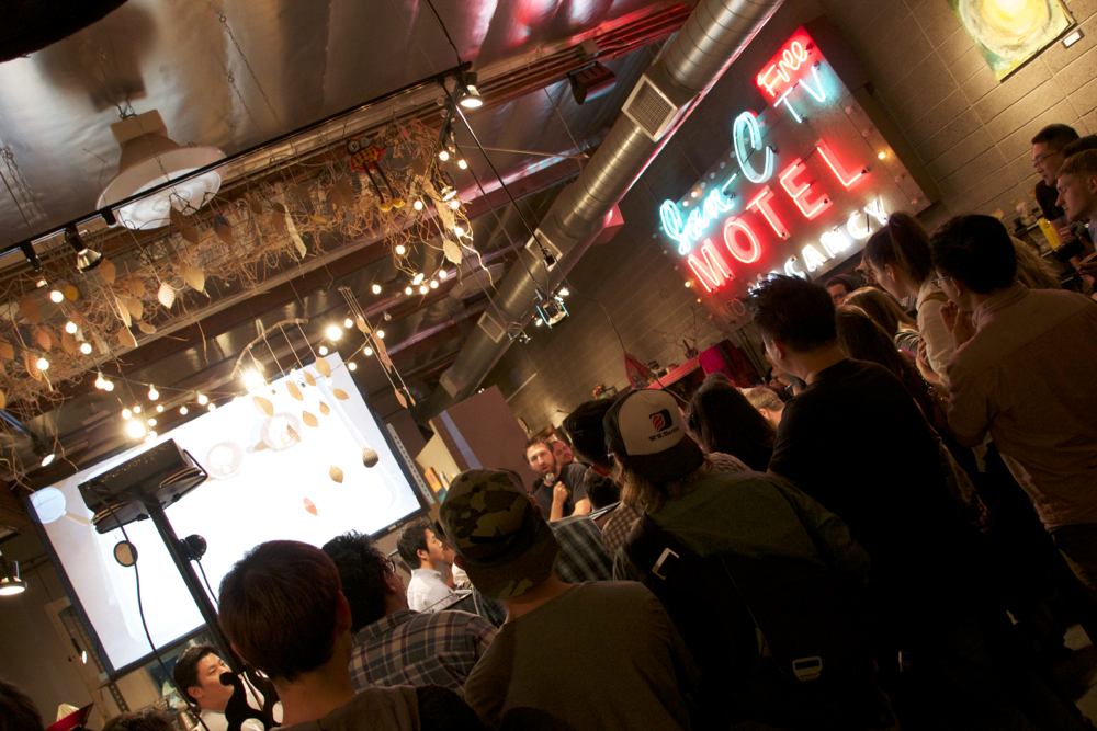 Todd on mic at the Final Round of 2013 LA TNT's hosted by Jones Coffee Roasters, Pasadena.