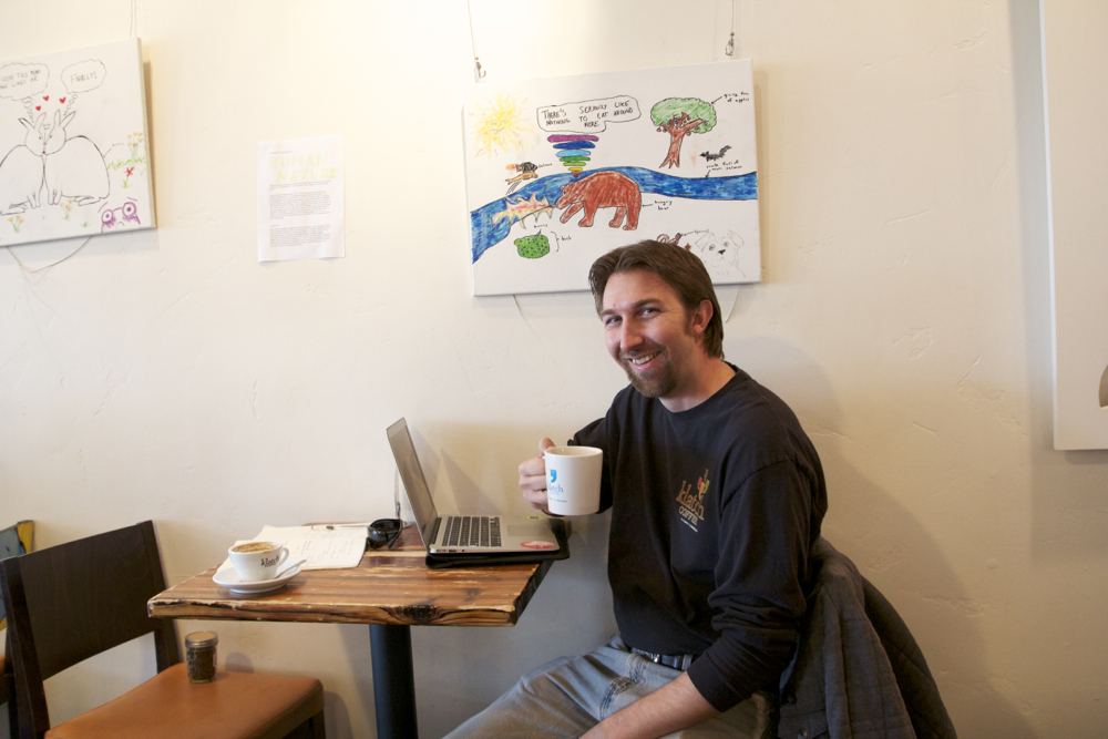 Todd at the Office, Klatch Coffee, San Dimas