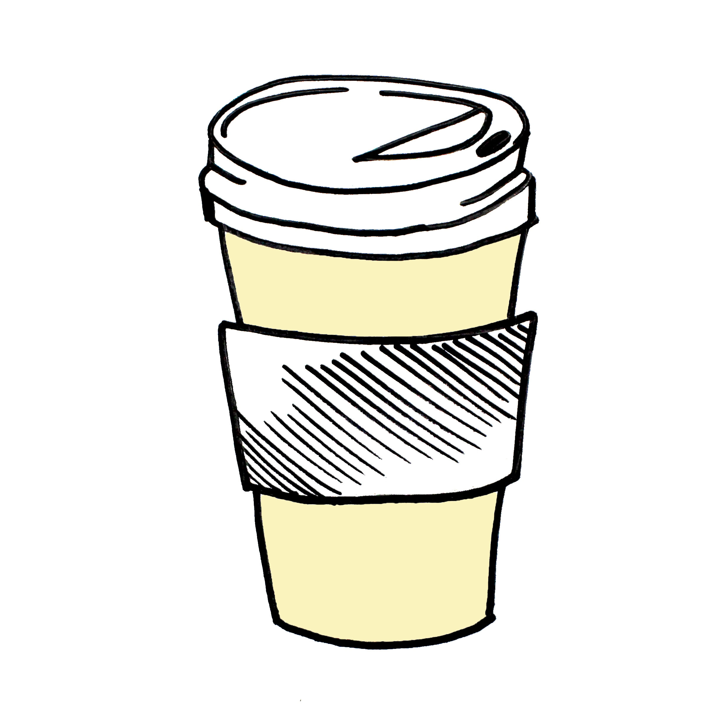Anatomy Of A To Go Cup The Little Black Coffee Cup