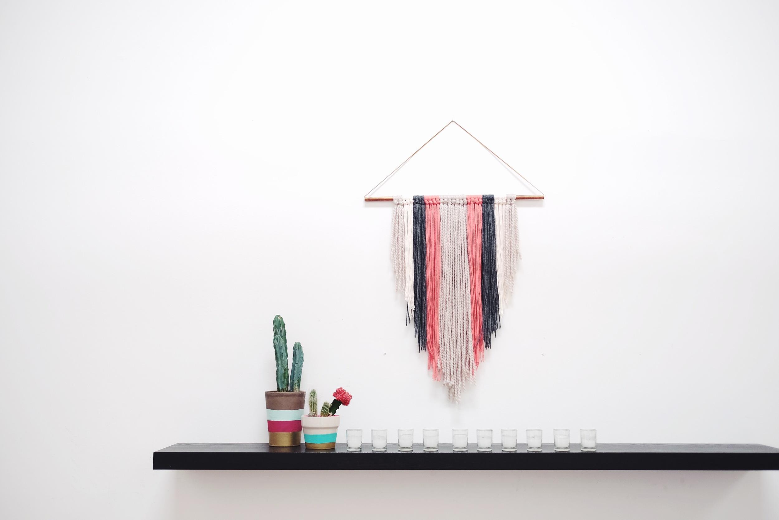 Wall Hanging by  Samantha Santana - art director, prop stylist, illustrator, designer