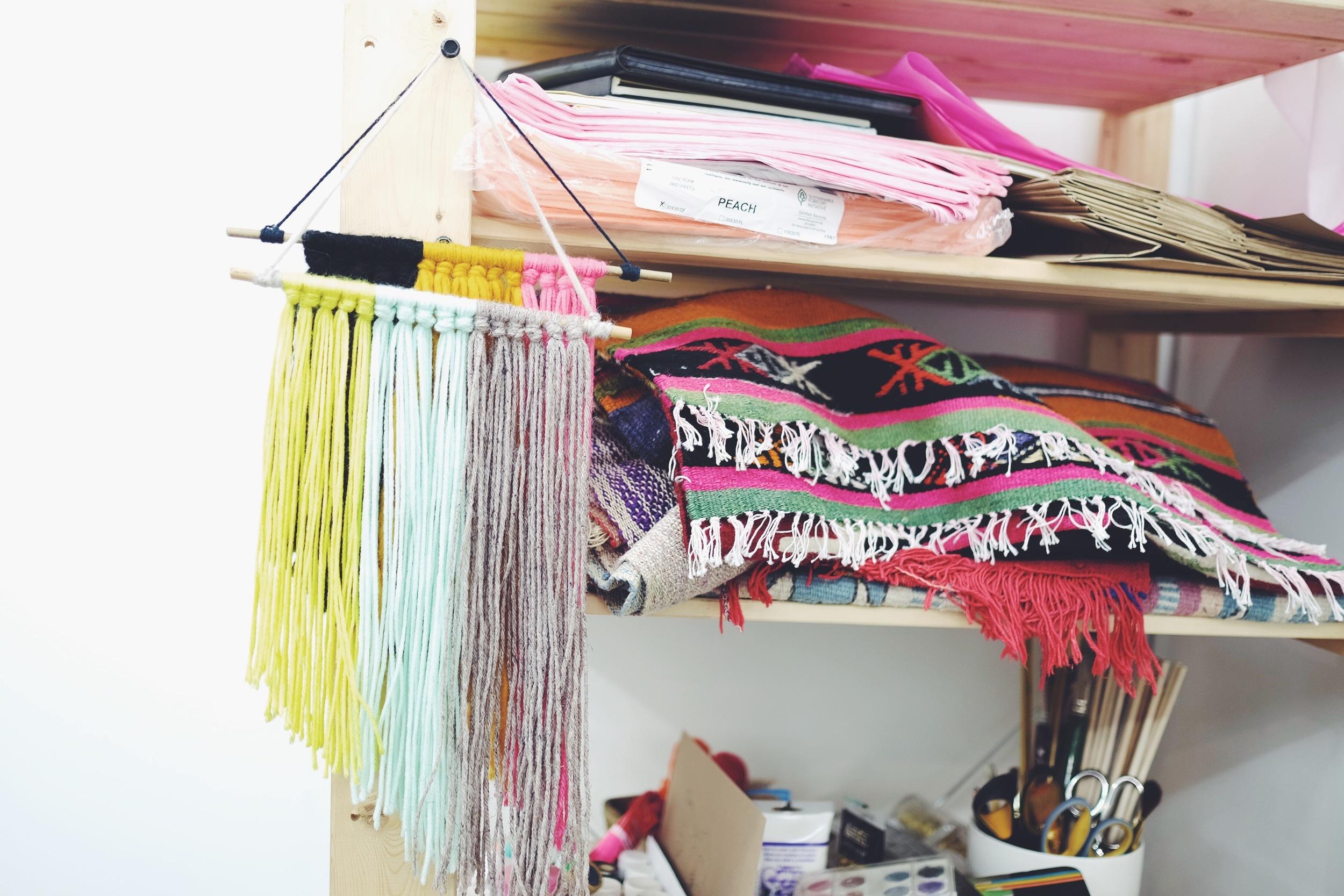 Workspace of  Samantha Santana - art director, prop stylist, illustrator, designer