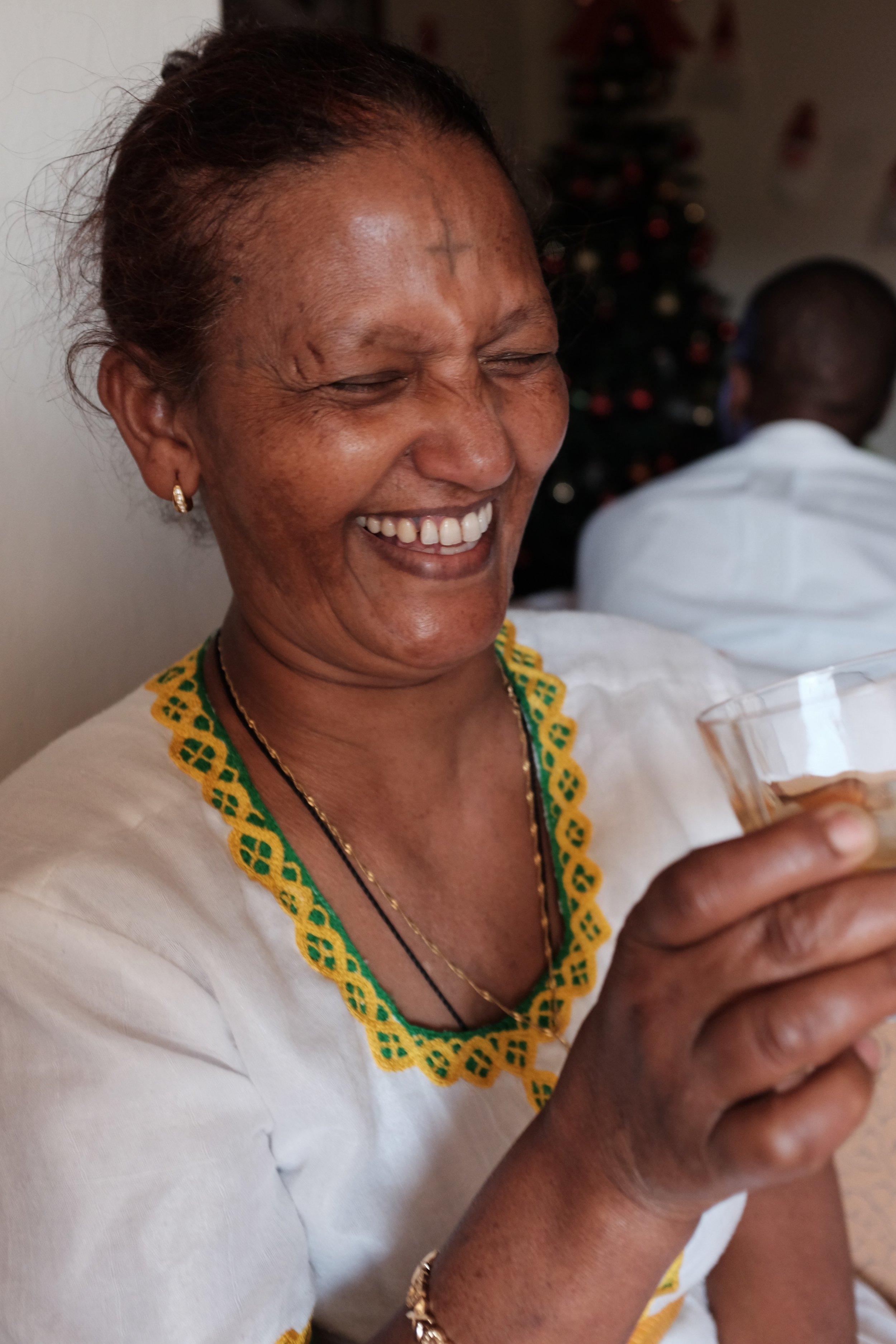 Zelalem Girma's Mother In Law, Ethiopian Chiristams.