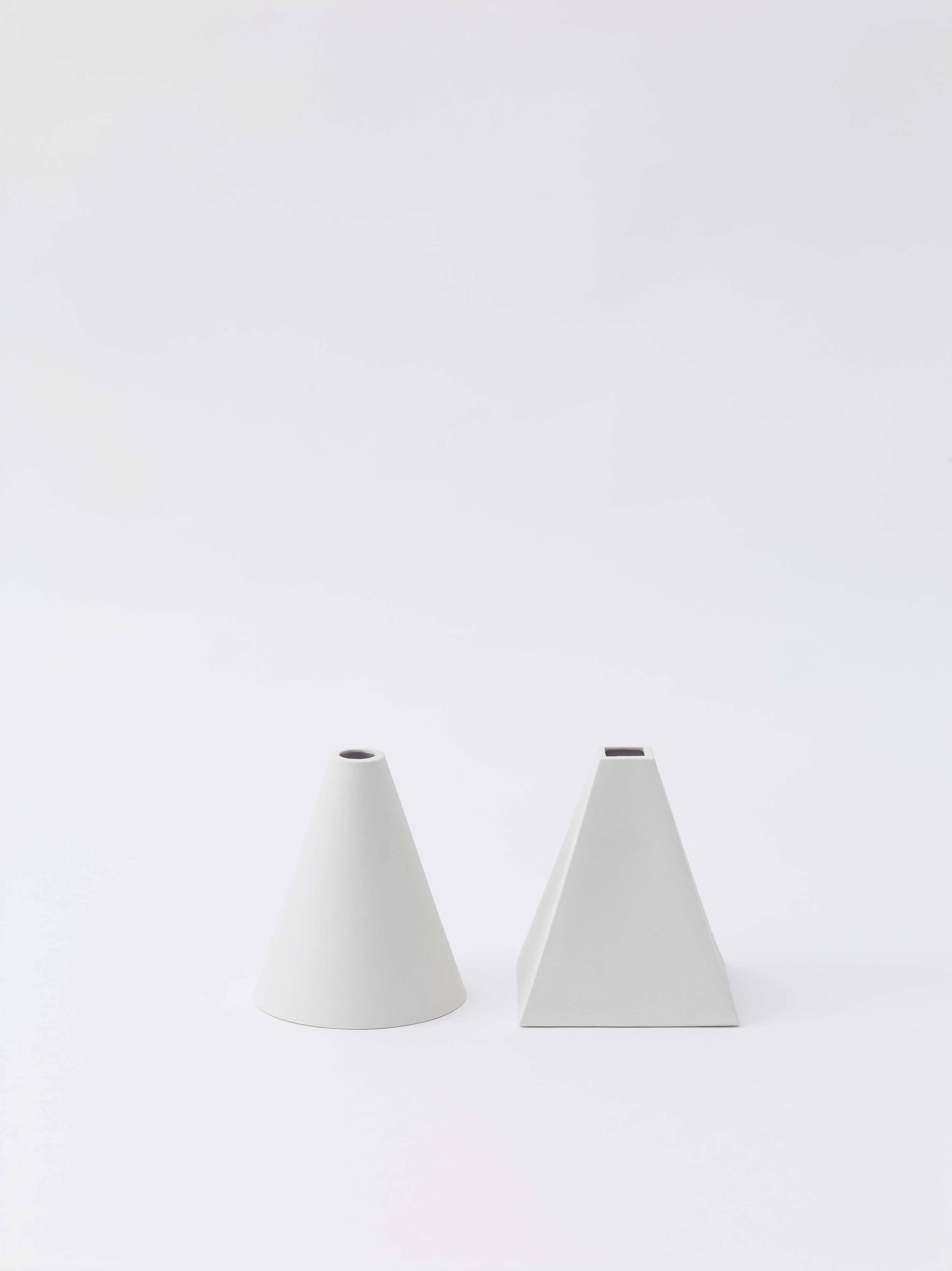 Cone + Pyramid | unglazed