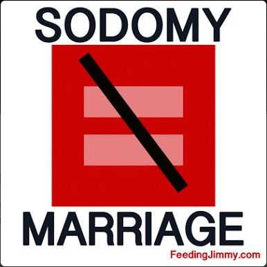Dissent's profile picture on Twitter, a badge of homophobic ignorance.