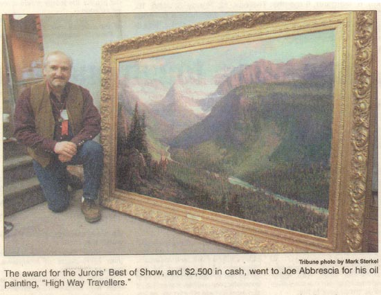 CM Russell Art Auction Best of Show awarded to Joe Abbrescia for High Way Travelers