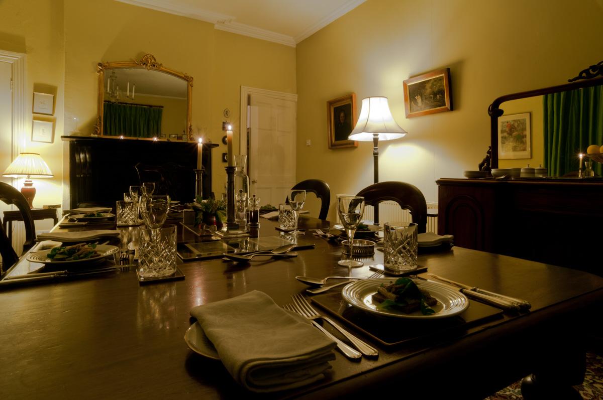 Dinner laid at St. John's House