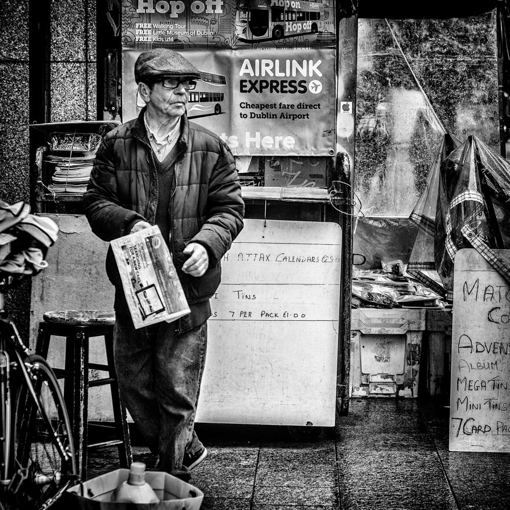 Newspaper man