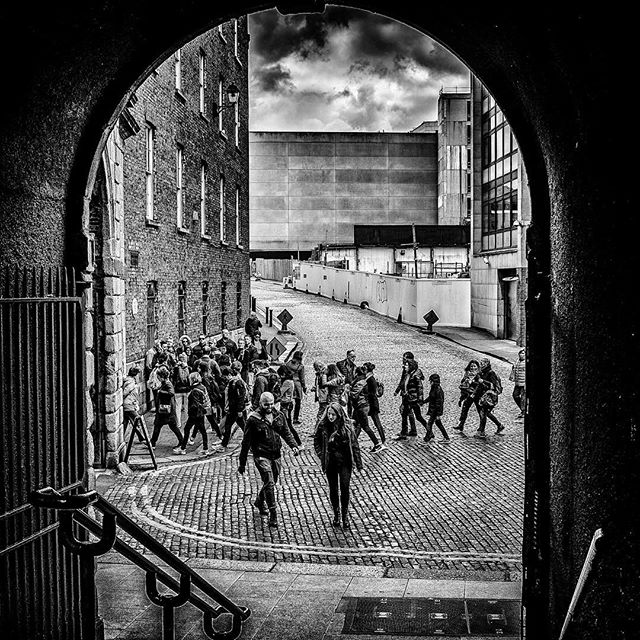 Dublin Castle Archway.  I discovered Dublin Castle today in a wander at lunchtime - an amazing place for street photography!  Look out for more from this area soon :). Fuji X100s, 1/1000th sec, f/4.5, ISO 400, 23mm.  #fujifilm #fujix100s #dublindaily